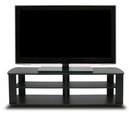 Furinno 11191BK THE Entertainment Center TV Stand, Black