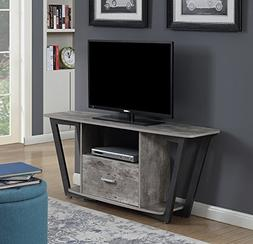 Convenience Concepts 112085GYBF Graystone TV Stand Stone, 60