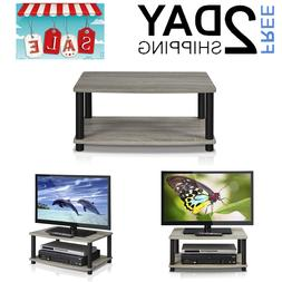 2 Tier Elevated TV Stands For Living Room Bedroom Dorm Compo