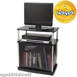 25 Inch TV Stand Small Storage Drawer Organizer Living Room