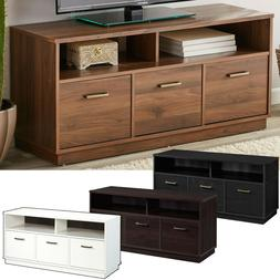 "3-Door TV Stand Console for TVs up to 50"", Wood Entertainmen"