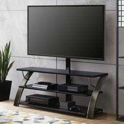"3-in-1 Flat Panel TV Stand for TVs up to 65"" Charcoal Easy a"