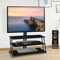 3 tier adjustable tv stand w tempered