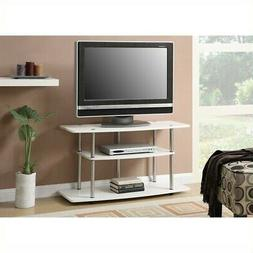 Pemberly Row 3 Tier Wide TV Stand - White