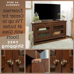 44-inch TV Stand Console Entertainment Center Rustic Living