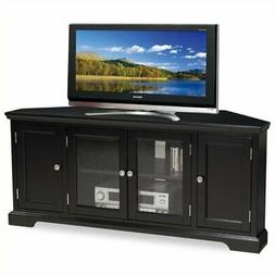 """Bowery Hill 56"""" Corner TV Stand in Black"""