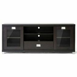 """Bowery Hill 57.5"""" TV Stand in Dark Brown"""