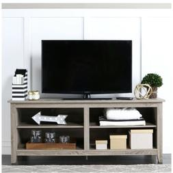 """WE Furniture 58"""" Wood TV Stand Storage Console Driftwood"""