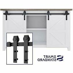 5FT Mini Sliding Barn Door Hardware Kit, For Double Opening