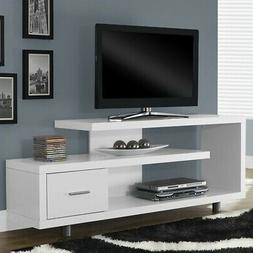 "Monarch 60"" Hollow-Core TV Stand in White"
