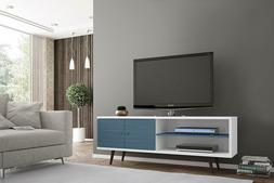 """Manhattan Comfort 63"""" TV Stand With One Cabinet & Two Open S"""