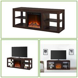 """65"""" Flat Screen TV Stand Electric Fireplace Entertainment Co"""