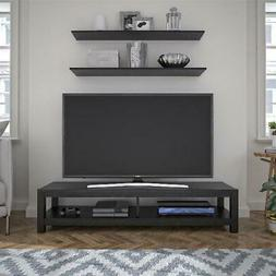 "Mainstays Easy Assembly TV Stand for TVs up to 65"", Black Oa"