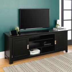 """Walker Edison 70"""" Wood TV Console with Sliding Doors New"""