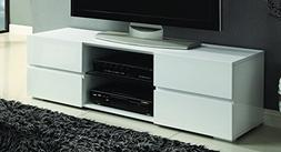 Coaster Home Furnishings 4-Drawer TV Console Glossy White