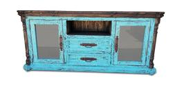 72 inch Hi End Rustic  Medival TV Stand Western Solid Wood T