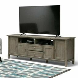 """Atlin Designs 72"""" TV Stand in Distressed Gray"""
