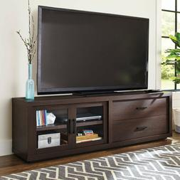 "80"" TV Stand Entertainment Cabinet Media Center 2 Glass Door"