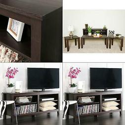 "Walker Edison - Tv Stand For Flat-panel Tvs Up To 60"" - Brow"