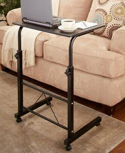 Adjustable Height Rolling Bed Side Table Laptop Desk Compute
