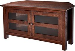 Rockpoint Adonia Wood Corner TV Stand Media Console, 44-inch