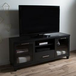 South Shore Adrian TV Stand for TVs up to 60'', Black Oak