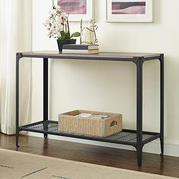 Angle Iron Rustic Wood Sofa Entry Table - Driftwood