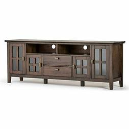 """Simpli Home Artisan Solid Wood 72"""" TV Media Stand, Natural A"""