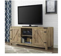 Barnwood 58 Inch Wide Barn Door TV Stand Console Furniture E
