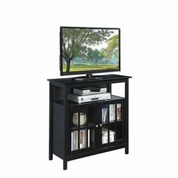 Convenience Concepts Big Sur Highboy TV Stand in Black