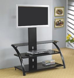 Black LCD / Plasma Flat Panel TV Stand with Bracket