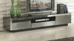 Black Tempered Glass Top TV Stand American Eagle FC-C533