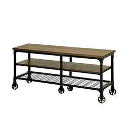 """Benzara BM119867 Industrial Style 81"""" TV Stand and Entertain"""