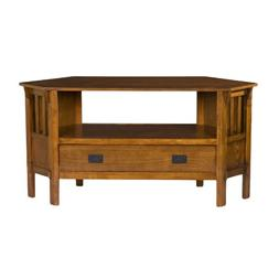 """Gainesville Oak Corner Media Stand, for TVs up to 47"""""""