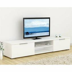 Entertainment Center White Home Tv Furniture Stand Cabinet W