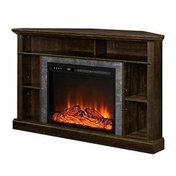 Corner Electric Fireplace Media Center TV Stand For 50 In TV