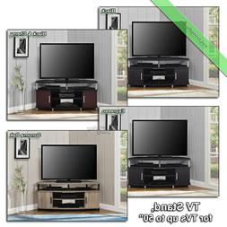 """Corner TV Stand Console Table 50"""" Wood Television Media Stan"""