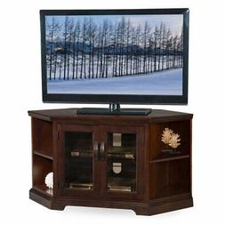 """Leick Riley Holliday 46"""" Corner TV Stand in Chocolate Cherry"""