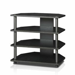 Furinno Corner TV Stand Table Small Modern 4-Tier Shelves TV