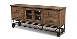 Crafters & Weavers Addison 72 Inch Forged Iron Base Tv Stand