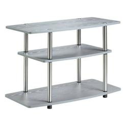 Convenience Concepts 131020GY Designs2Go 3-Tier TV Stand, Gr