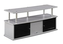 Convenience Concepts Designs2Go TV Stand with 3 Cabinets Gra
