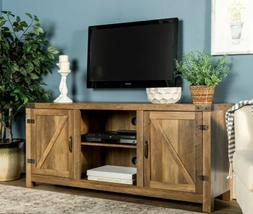 Edison maker  58 inch Barn Door TV Console for up to 65 inch