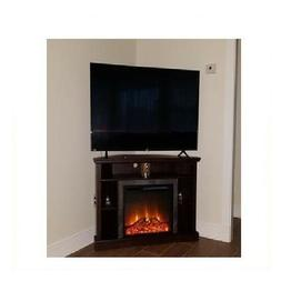 Electric Fireplace TV Stand Corner Console Portable Media En