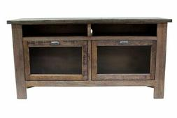 """Crafters and Weavers Emerson Rustic Solid Wood 60"""" TV Stand"""
