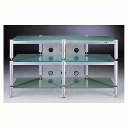 """Entertainment Center Glass TV Stands Stand Furniture 50"""" Sil"""