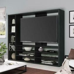 "Entertainment Center Wood TV Stand For 55"" Media Organizer S"