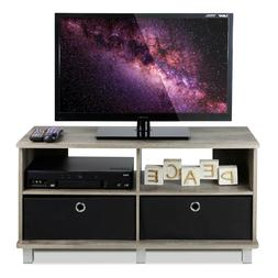 Entertainment Cubby TV Stand, up to 40 inch TV, Light Oak Wo