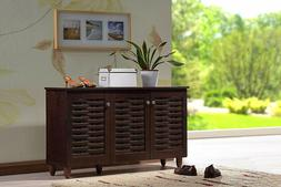 Entryway Cabinet Hallway Shoe Storage Living Room TV Stand E