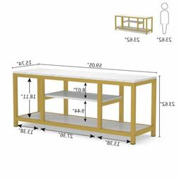 Entryway Sofa Console Table 3-Tier TV Stand w/ Open Shelves&
